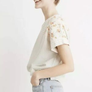 NEW Madewell x The New Denim Project Patchwork Top